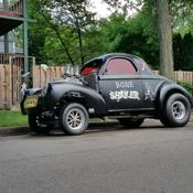 1941 Willys Coupe Gasser Hot Rod Frame Off Blown 327