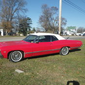 1967 Chevy Impala Convertible Project with roller frame included