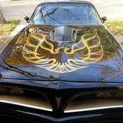 1977 TRANS AM BLACK 400 HURST T TOPS PROJECT RUNS AUTO WITH A/C