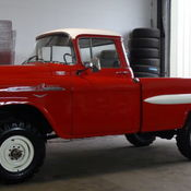 1958 Chevy Apache Pickup  Stunning Build! NAPCO 4X4! Very Rare  V8
