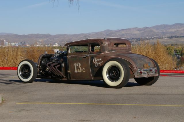 1928 Ford Model A Coupe Hot Rod Rat Rod Chopped Vintage ...