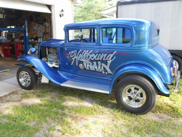 1931 chevrolet 5 window coupe blown 389 4sp gasser street for 1931 chevy 3 window coupe