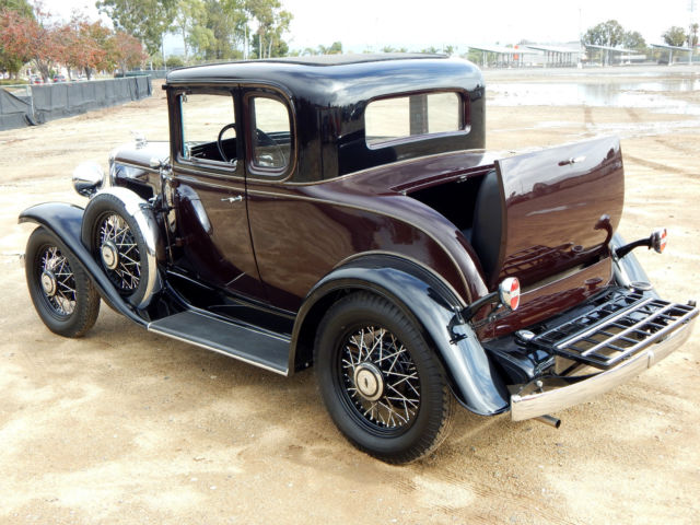 1931 chevrolet 5 window coupe with rumble seat dual side for 1931 chevrolet 5 window coupe
