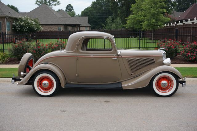 1934 Ford 3 Window Deluxe Coupe All Henry Ford Steel