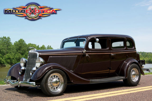 1934 ford 4 door sedan street rod 350 cid chevy all steel for 1934 pontiac 4 door sedan