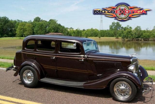1934 ford 4 door sedan street rod 350 cid chevy all steel for 1934 ford 4 door sedan