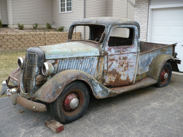 1935 1936 Ford Pickup Truck Hot Rat Rod Patina Barn Fresh