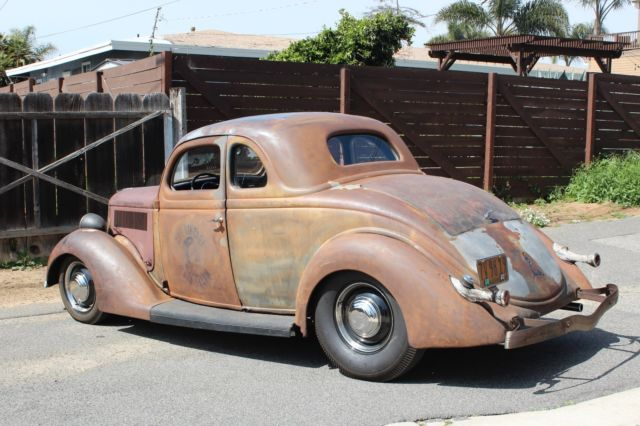 1936 ford 5 window coupe hot rod survivor kustom rat rod for 1936 ford five window coupe