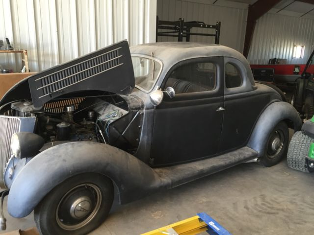 1936 ford 5 window coupe survivor street rod rat rod flathead for 1936 ford five window coupe