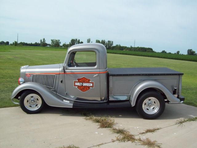 1936 ford pickup truck custom  harley davidson theme v8