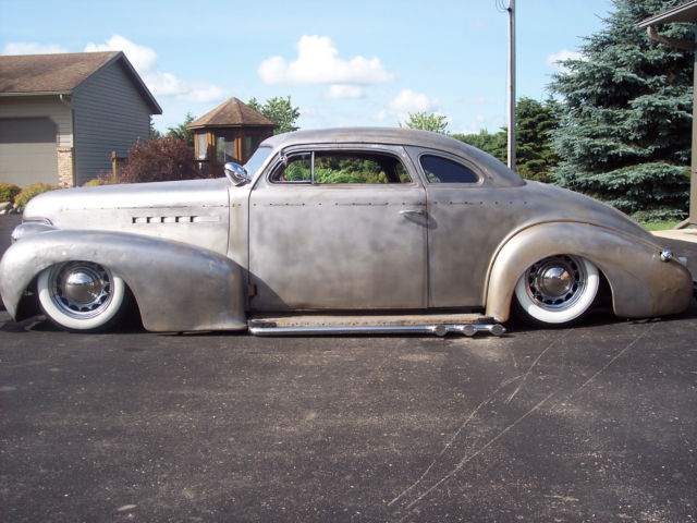 1939 oldsmobile coupe chopped bagged hot rod rat scta sbc