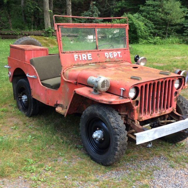 1943 Willys Mb Fire Jeep For Restoration Military Gpw