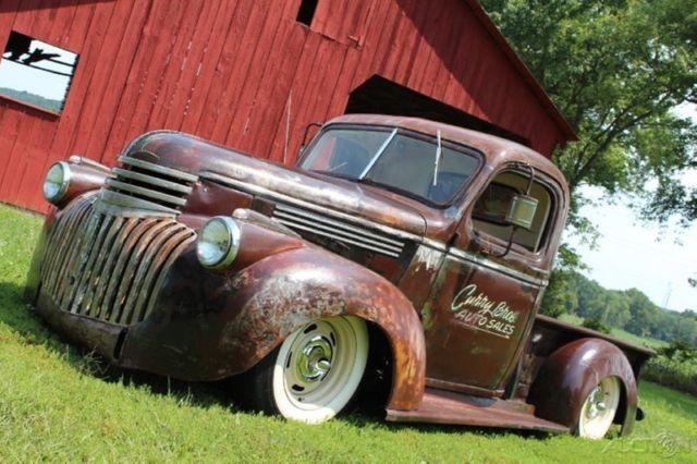 1946 chevy rat rod pickup restomod 350ci auto pdb ps patina nice. Black Bedroom Furniture Sets. Home Design Ideas