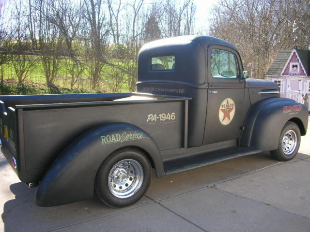 1946 ford pickup truck  street rod  hot rod  rat rod