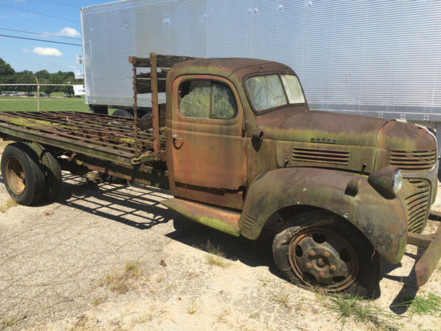 1947 Dodge Truck Wf 34 One Ton Flat Bed Ratrod Dodge