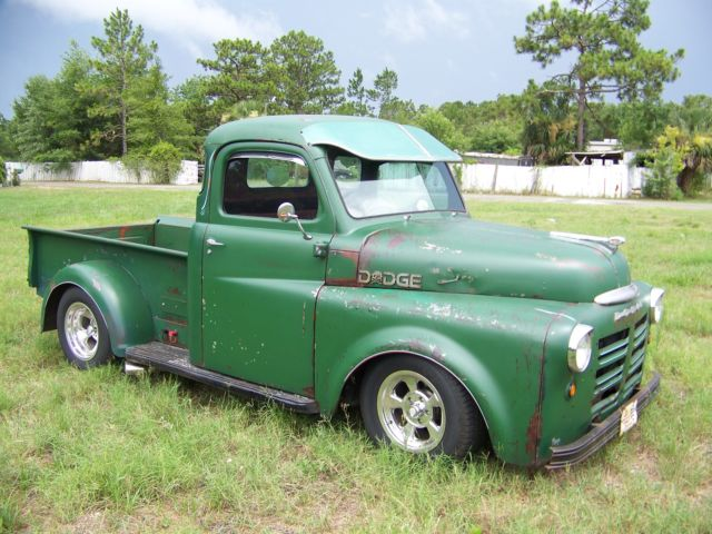 1948 dodge 5 window pick up truck sitting on a s-10 chassis