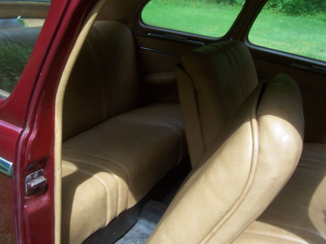 1948 plymouth specal deluxe coupe burgundy with tan vinyl interior cruise car. Black Bedroom Furniture Sets. Home Design Ideas