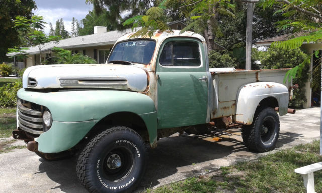 Ford F Pick Up On Chevy X Drive Trane on 1951 F1 Ford Short Bed