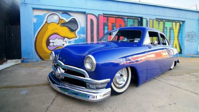 1949 Ford Shoebox Bagged Air Ride RestoMod Fuel Injected Frame off