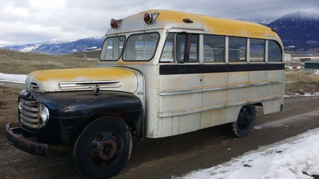1950 ford short vintage rv motorhome camper school bus