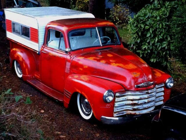1953 chevy truck 3100 5 window deluxe rat rod air ride for 1953 chevy 5 window pickup