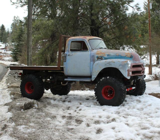 1954 Chevy 1 Ton Four Wheel Drive 4x4 Sbc Auto 42 Quot Iroks