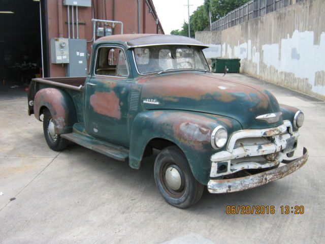 1954 chevy 5 window truck 3100 no reserve rat rod barn for 1954 chevy 5 window truck