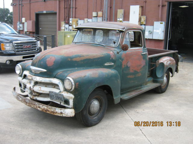 1954 chevy 5 window truck 3100 no reserve rat rod barn for 1954 chevy 5 window
