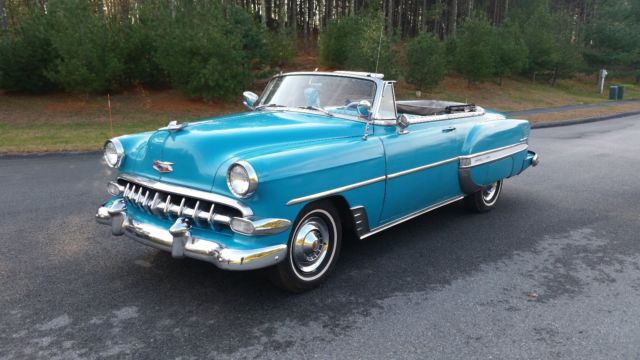 Bel Air Auto Auction >> 1954 CHEVY BELAIR V8 CONVERTIBLE RARE