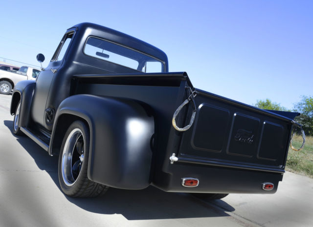 1954 Ford F100 Custom Matte Black Chevy 350 Automatic