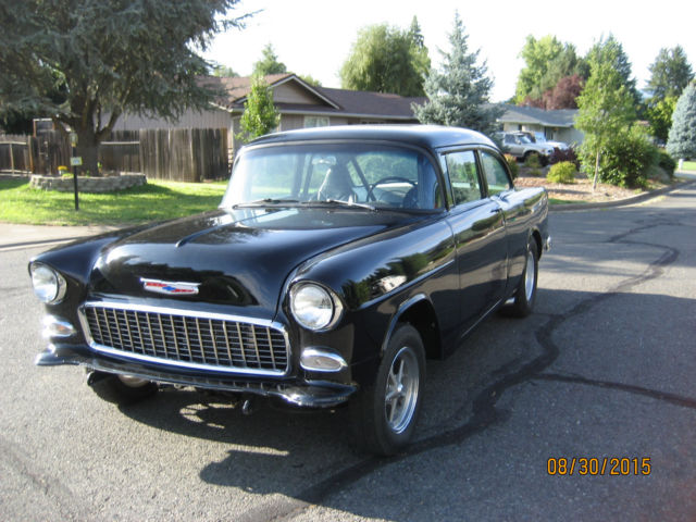 1955 55 chevy 150 black beauty gasser ready to race. Black Bedroom Furniture Sets. Home Design Ideas