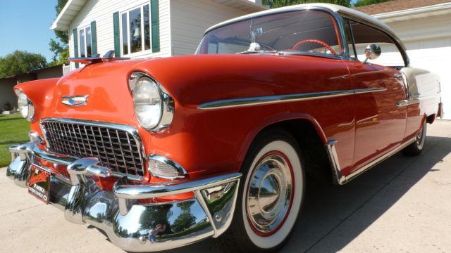 1955 chevrolet belair 2 door sport coupe for 1955 chevy belair 4 door value