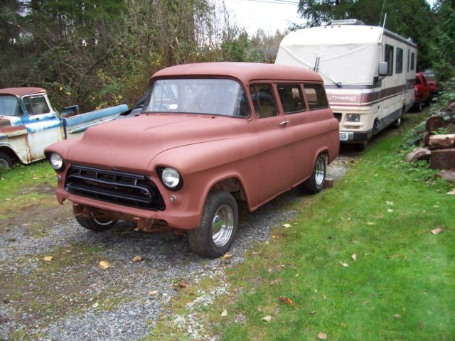 1955 Chevrolet Suburban Project Like Apache Pickup Gmc 1957