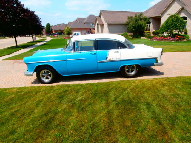 1955 chevy chevrolet belair 4 door new sbc 400 muncie 4 speed on the. Cars Review. Best American Auto & Cars Review