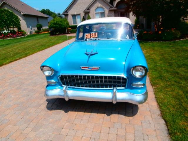 1955 chevy chevrolet belair 4 door new sbc 400 muncie 4 for 1955 chevy belair 4 door value