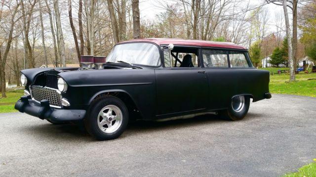 1955 Chevy Pro Street handyman 2 door wagon 383, 4 spd ...