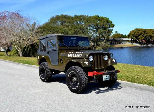 1955 Willys Jeep Military 3,503 Miles Green SUV 225 Manual