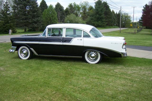 1956 chevrolet belair 4 door sedan 1 family ownership 265 for 1956 chevy 4 door sedan