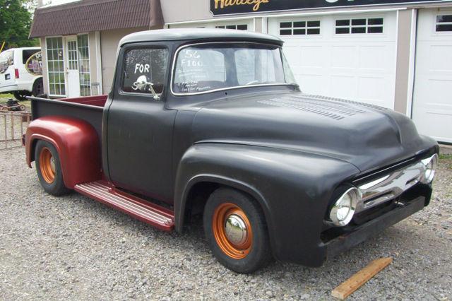 1956 Ford F100 Big Window Pickup Hotrod Ratrod Hot Rod Rat Rod