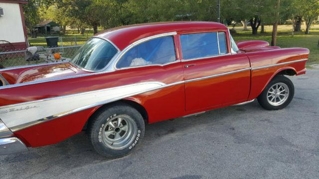 1957 57 chevy 2 door post sedan bel air gasser race car for 1957 chevrolet 2 door post