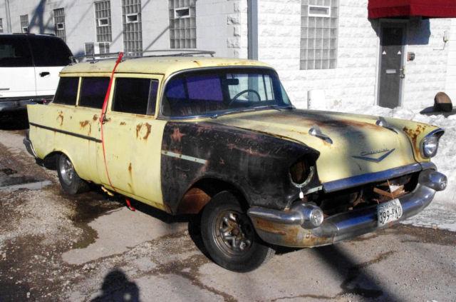 1957 Chevrolet 2dr Special Order Gov Car Sedan Delivery Bel