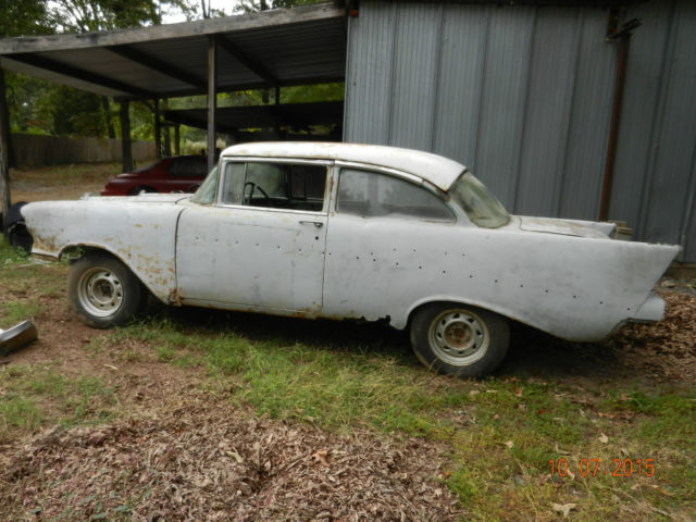 1957 chevrolet bel air 2 door post project car with title for 1957 chevy 2 door for sale