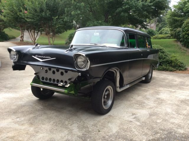1957 chevrolet station wagon gasser chevy hot rod rat rod. Black Bedroom Furniture Sets. Home Design Ideas