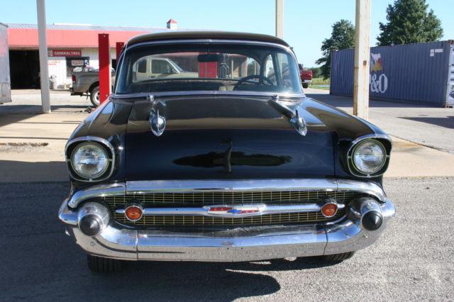 1957 chevy 2 door post 150 black with 350 automatic new for 1957 chevrolet 2 door post