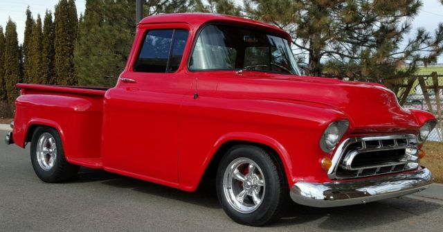1957 chevy pickup big rear window 454 1955 chevy 1956. Black Bedroom Furniture Sets. Home Design Ideas