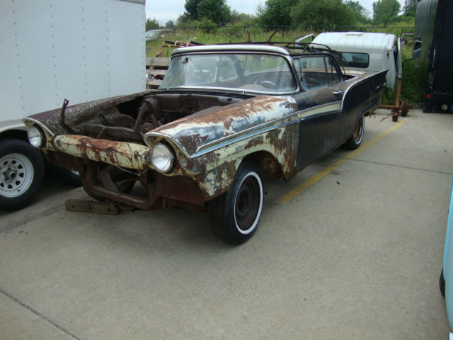 1957 Ford Fairlane 500 Convertible Parts Car Or To Restore