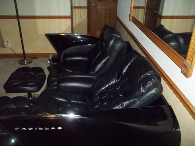 1958 Cadillac Couch Sofa With Reclining Leather Seats For