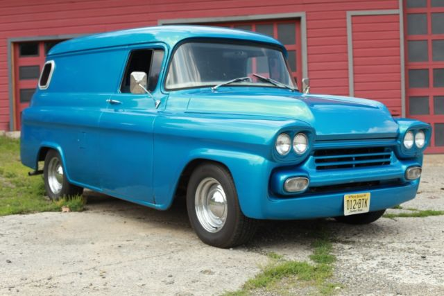1959 Chevrolet Apache Panel Truck Rare Vintage Model Hotrod Sbc 350