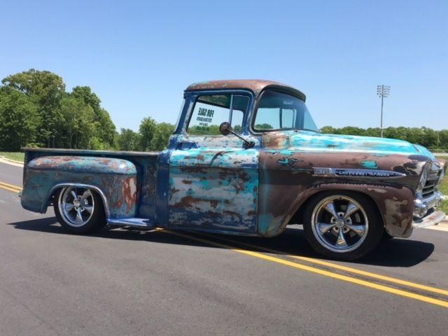 patina hinges 1959 chevrolet apache truck big window patina restomod