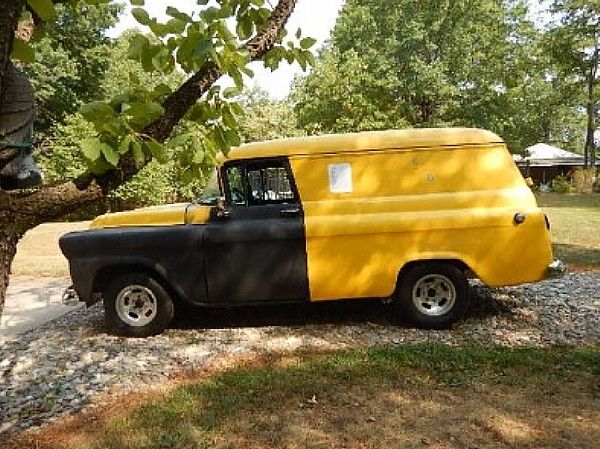 "1959 Chevy Apache Panel Truck 3100 Partially Restored ""The ..."
